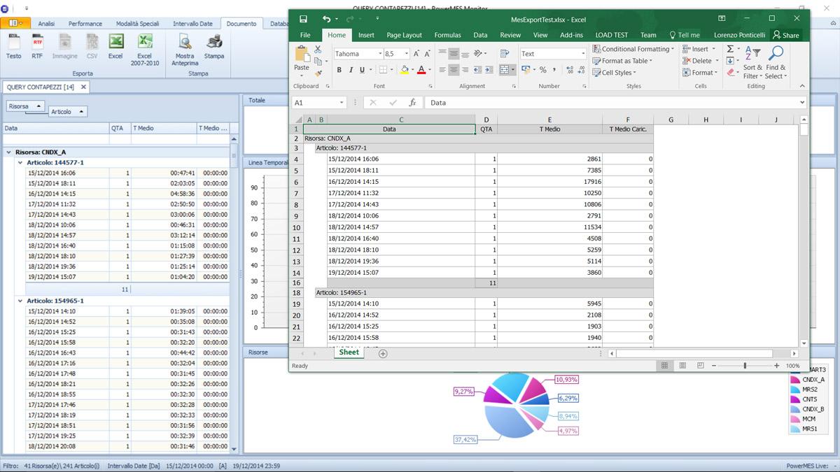 PowerMES - Export To Excel
